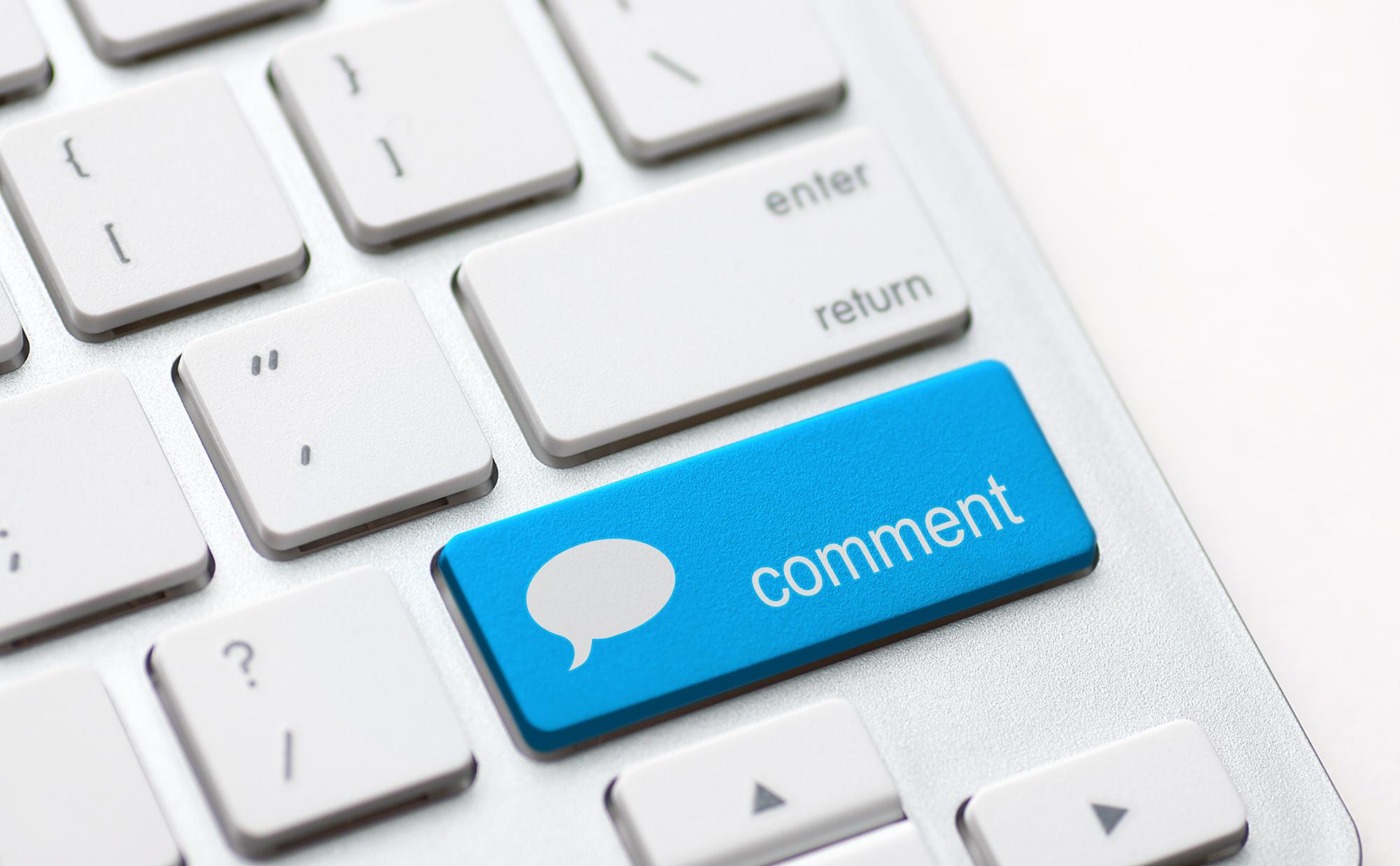 Tecla de comentários