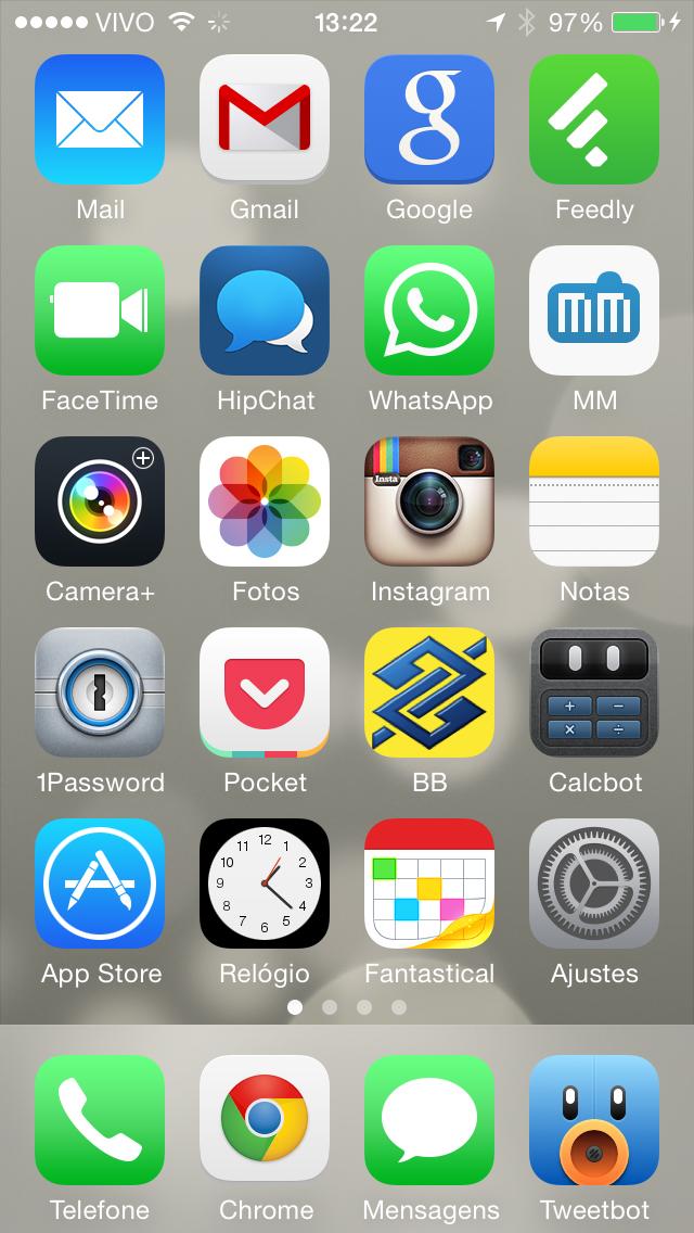 Home Screen do meu iPhone