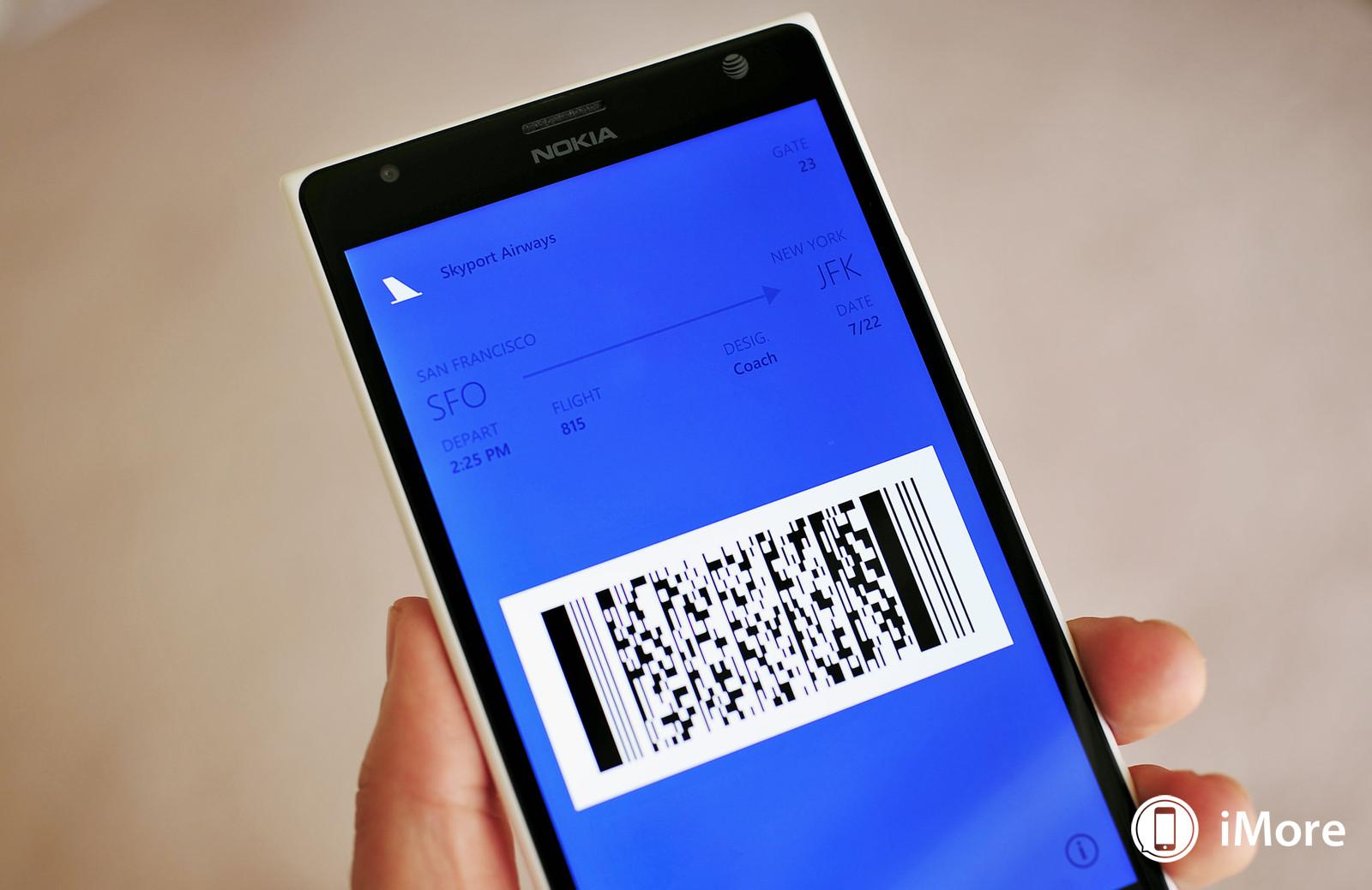 Windows Phone 8.1 rodando um cartão do Passbook