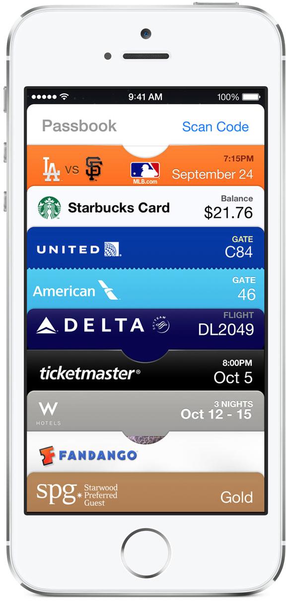 Passbook - iPhone 5s