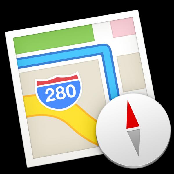 Ícone do app Mapas para OS X