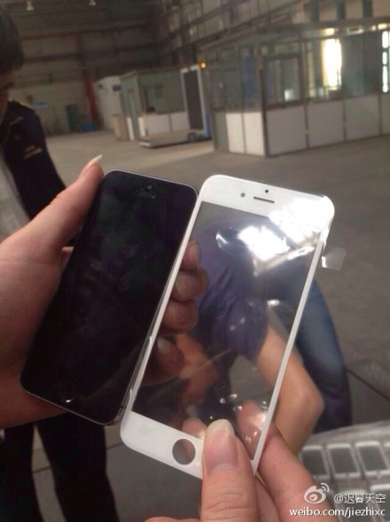 Suposto painel frontal do iPhone 6