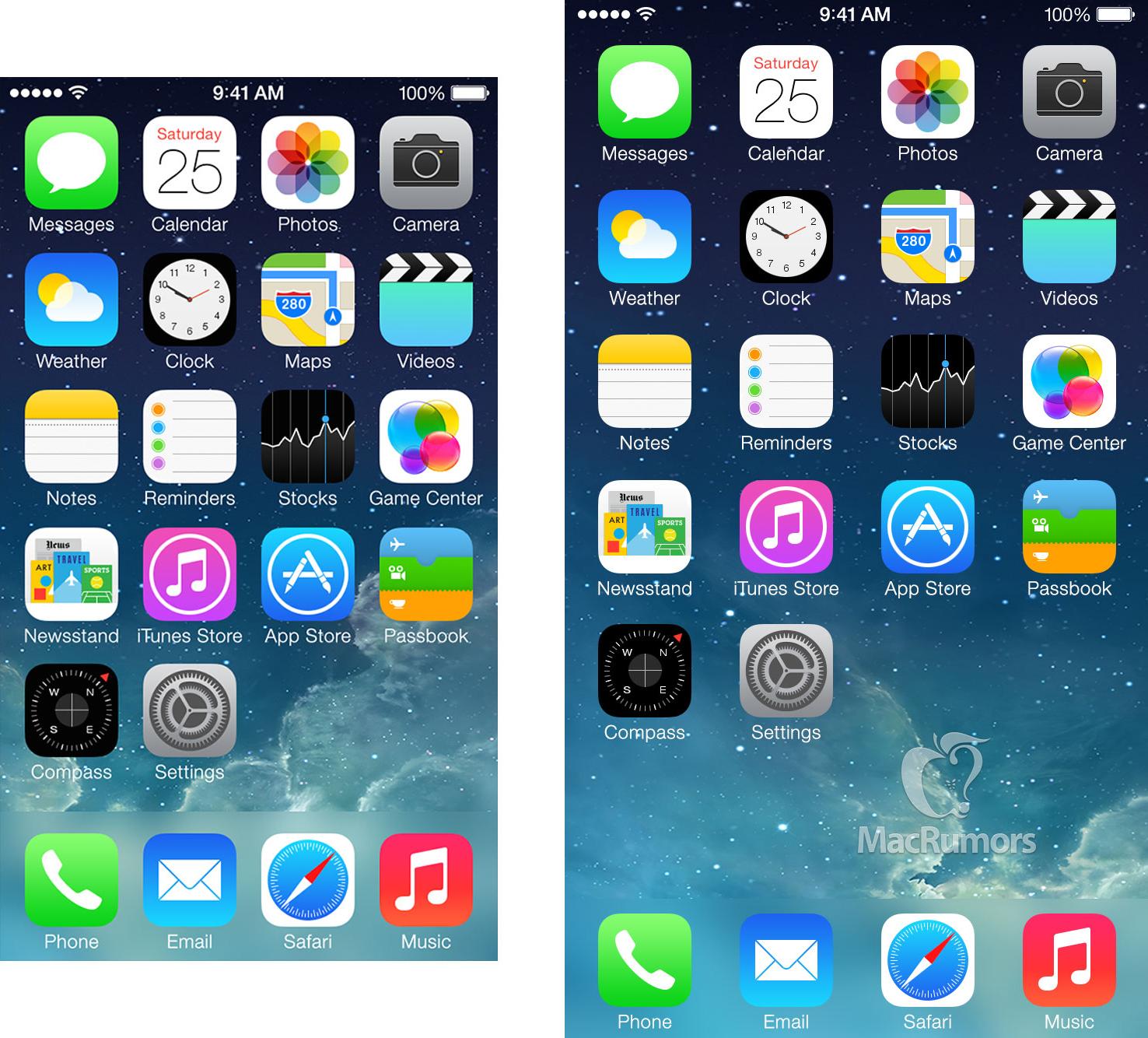 Tela de um iPhone com 4,7 polegadas
