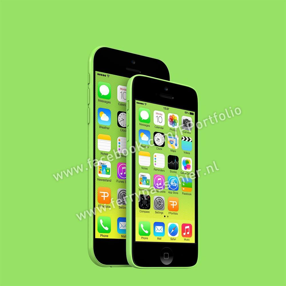 Mockup realista do iPhone 6c
