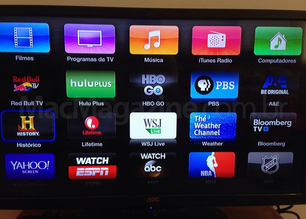 Novos canais na Apple TV