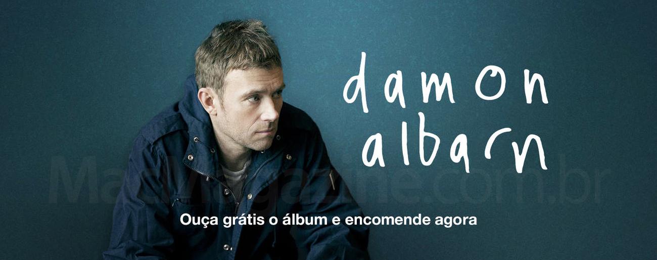 Banner promocional do novo álbum solo de Damon Albarn