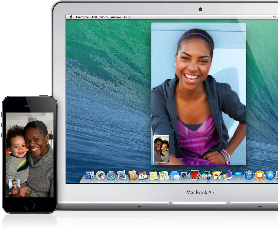 FaceTime em MacBook Air e em iPhone
