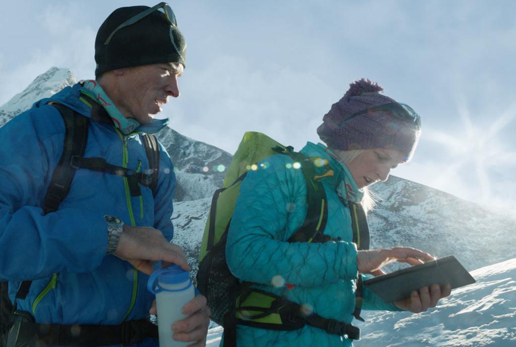 Usando o iPad num expedição
