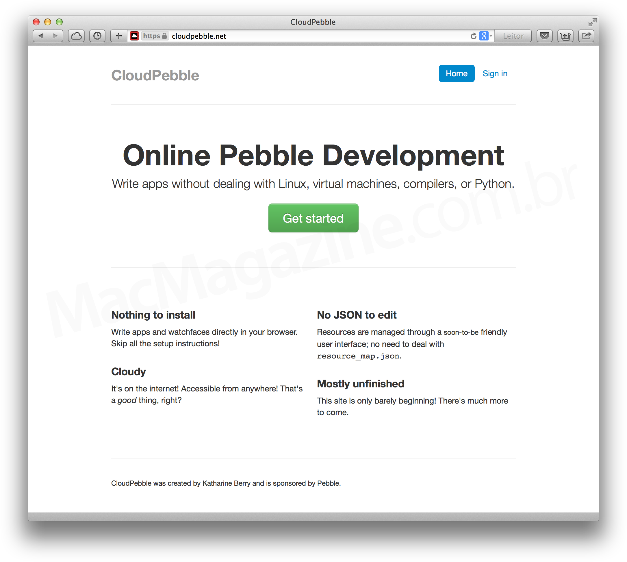 Desenvolvendo para o Pebble