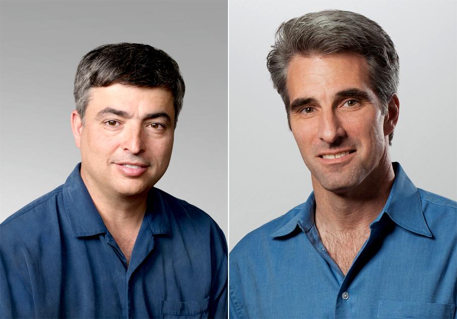 Eddy Cue e Craig Federighi, executivos do alto escalão da Apple