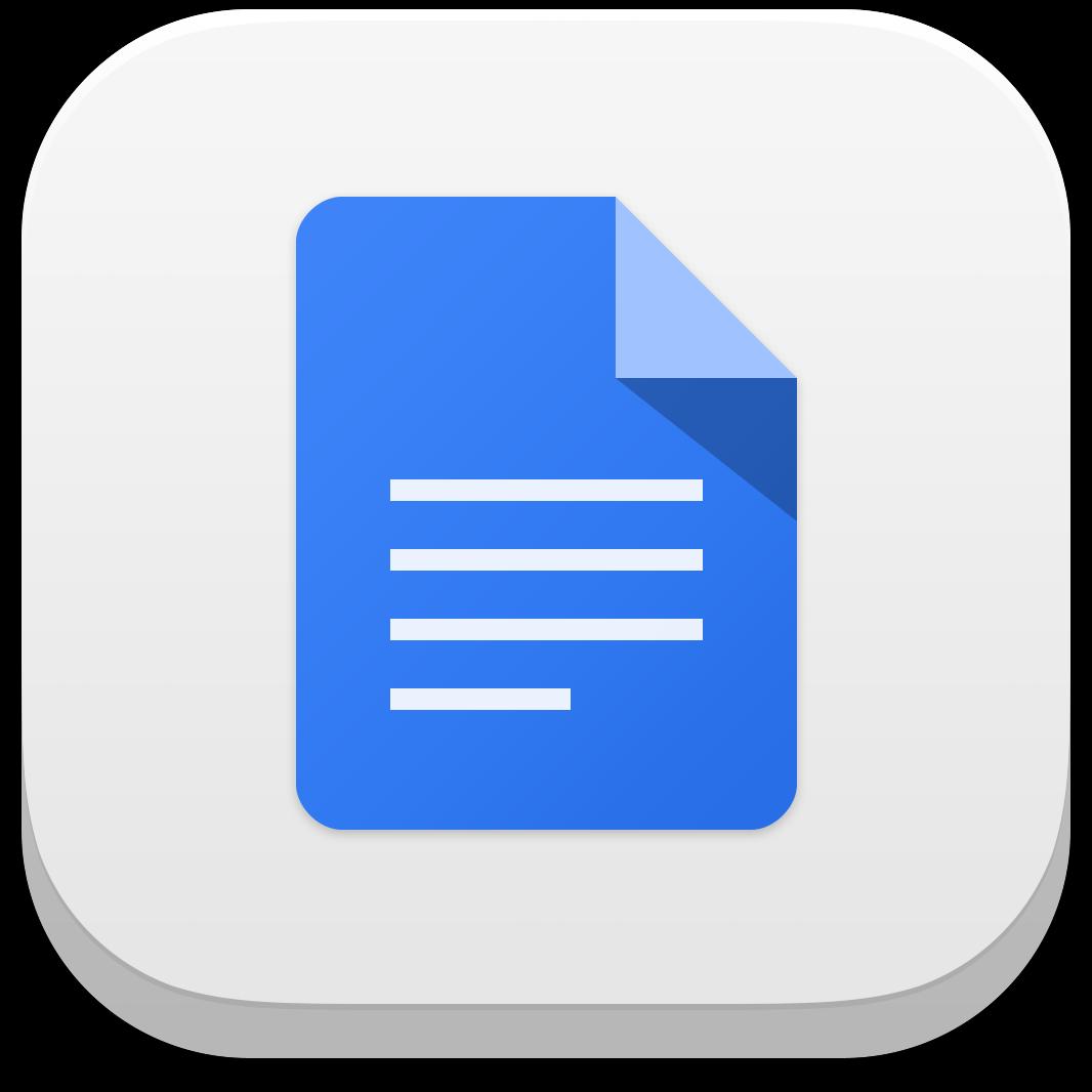 Ícone do app Documentos Google para iOS