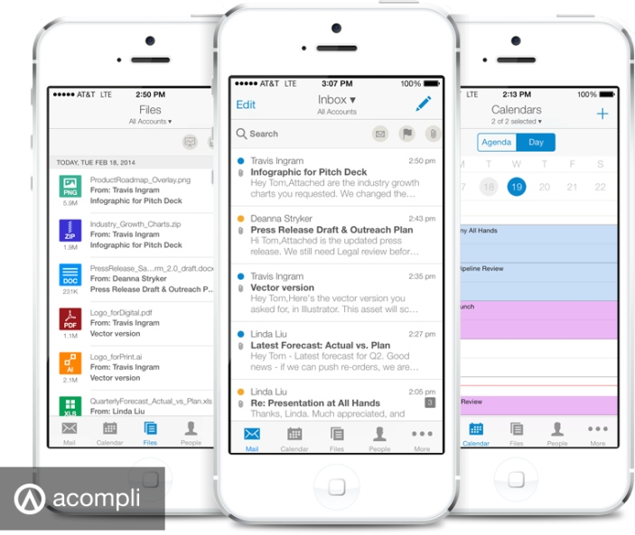 App Acompli para iPhones/iPods touch