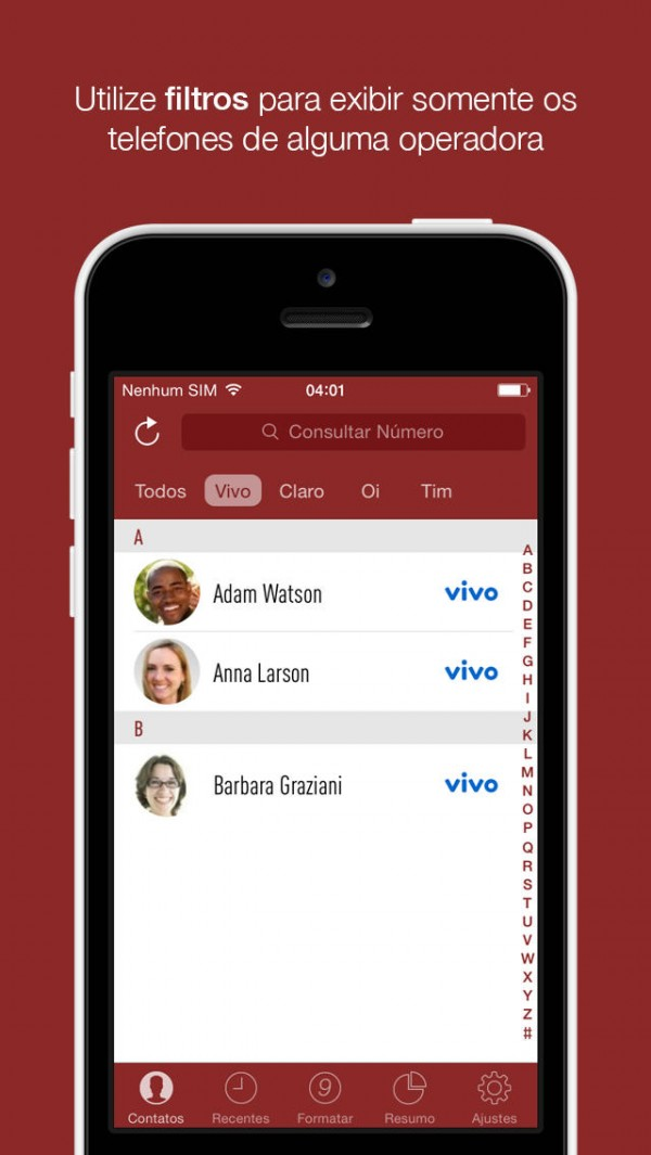 App Operadora para iPhones