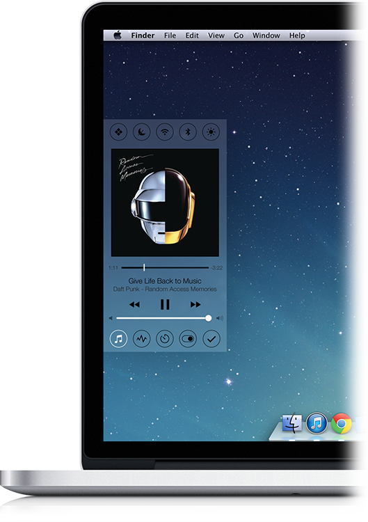 Control Center para Mac