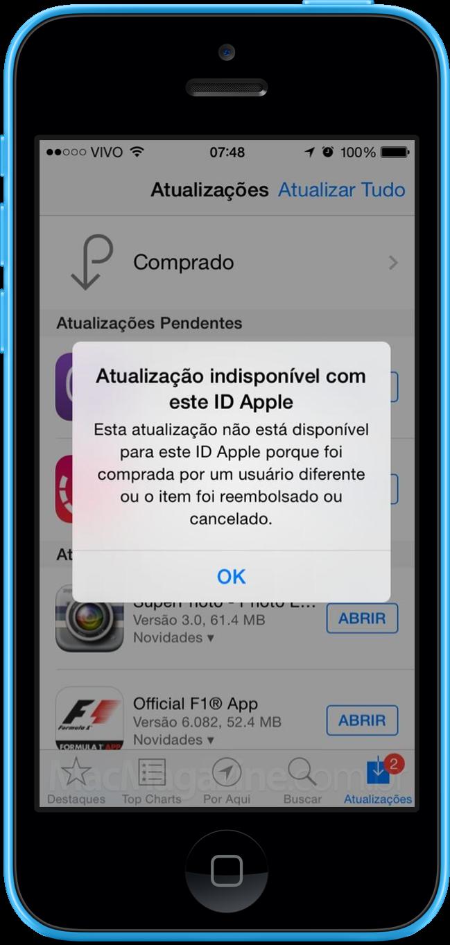 Problema na App Store