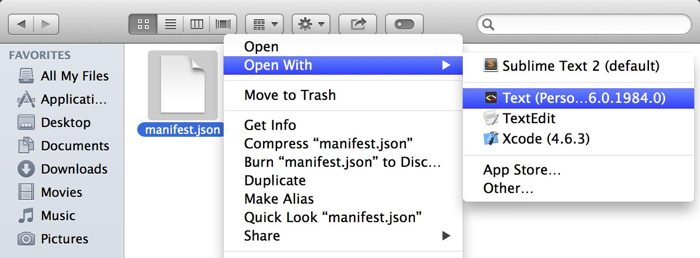 Chrome Apps no Finder do OS X