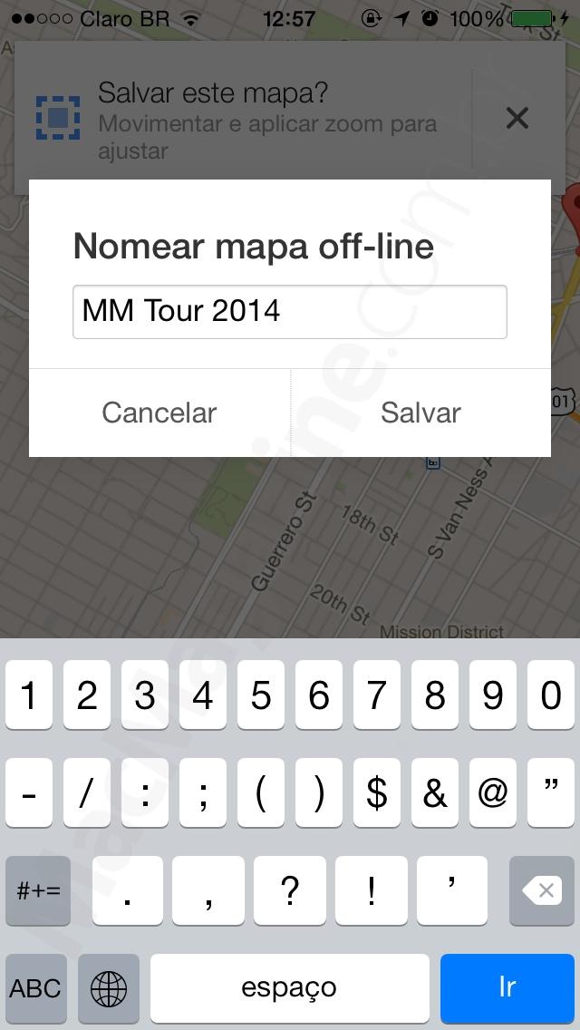 Salvando um mapa no Google Maps para iOS