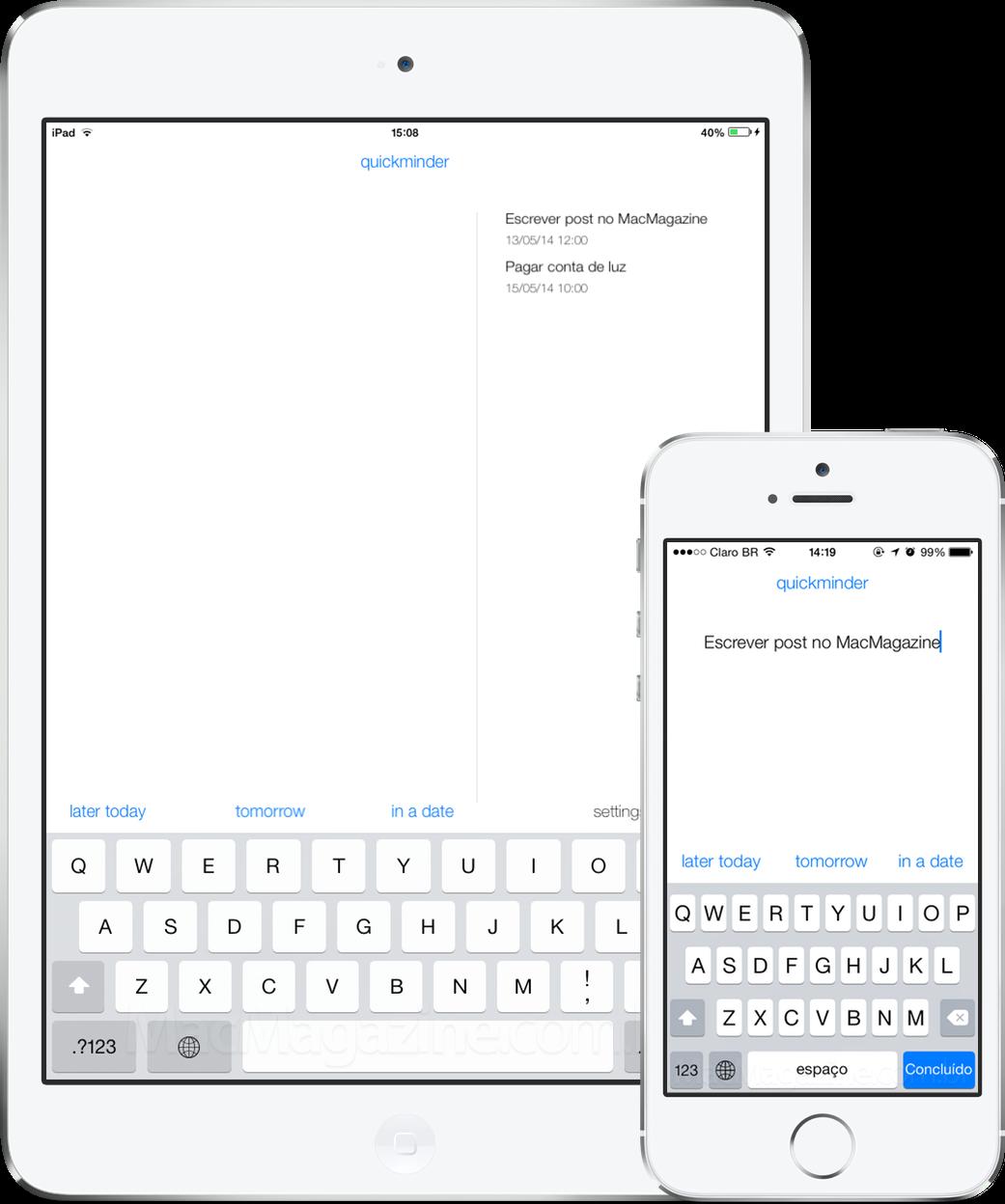 App quickminder para iOS