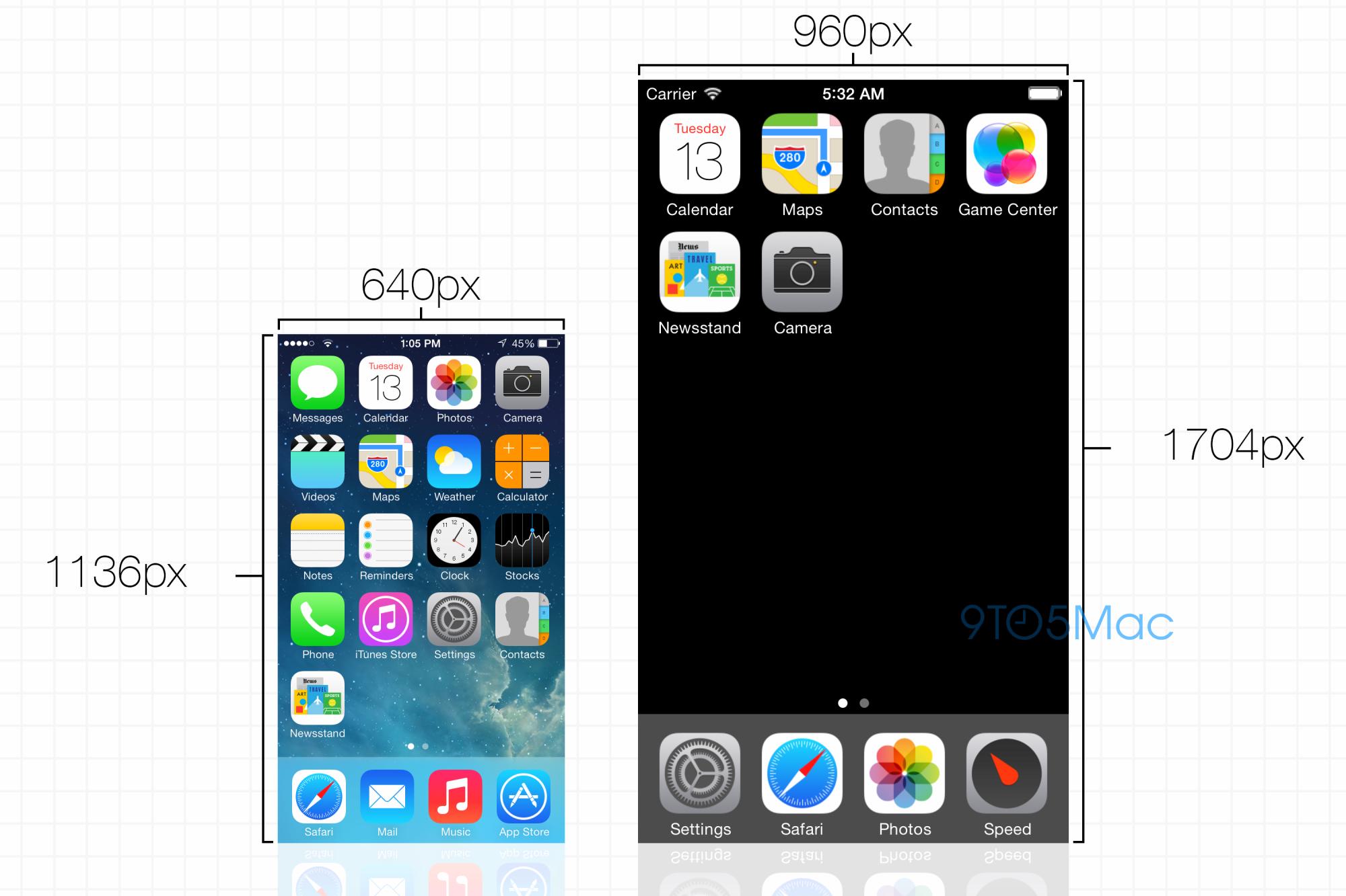 Esquema do iPhone de 4,7 polegadas