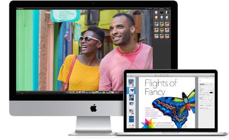 iMac e MacBook Pro com tela Retina