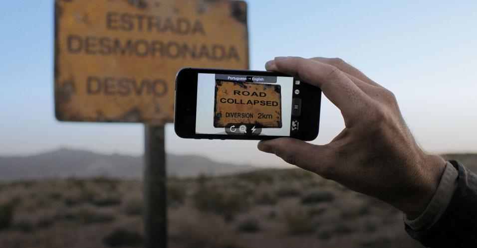 Word Lens em comercial do iPhone