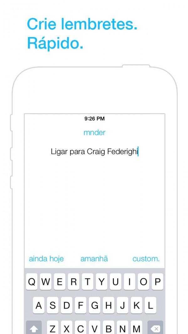 App mnder para iOS