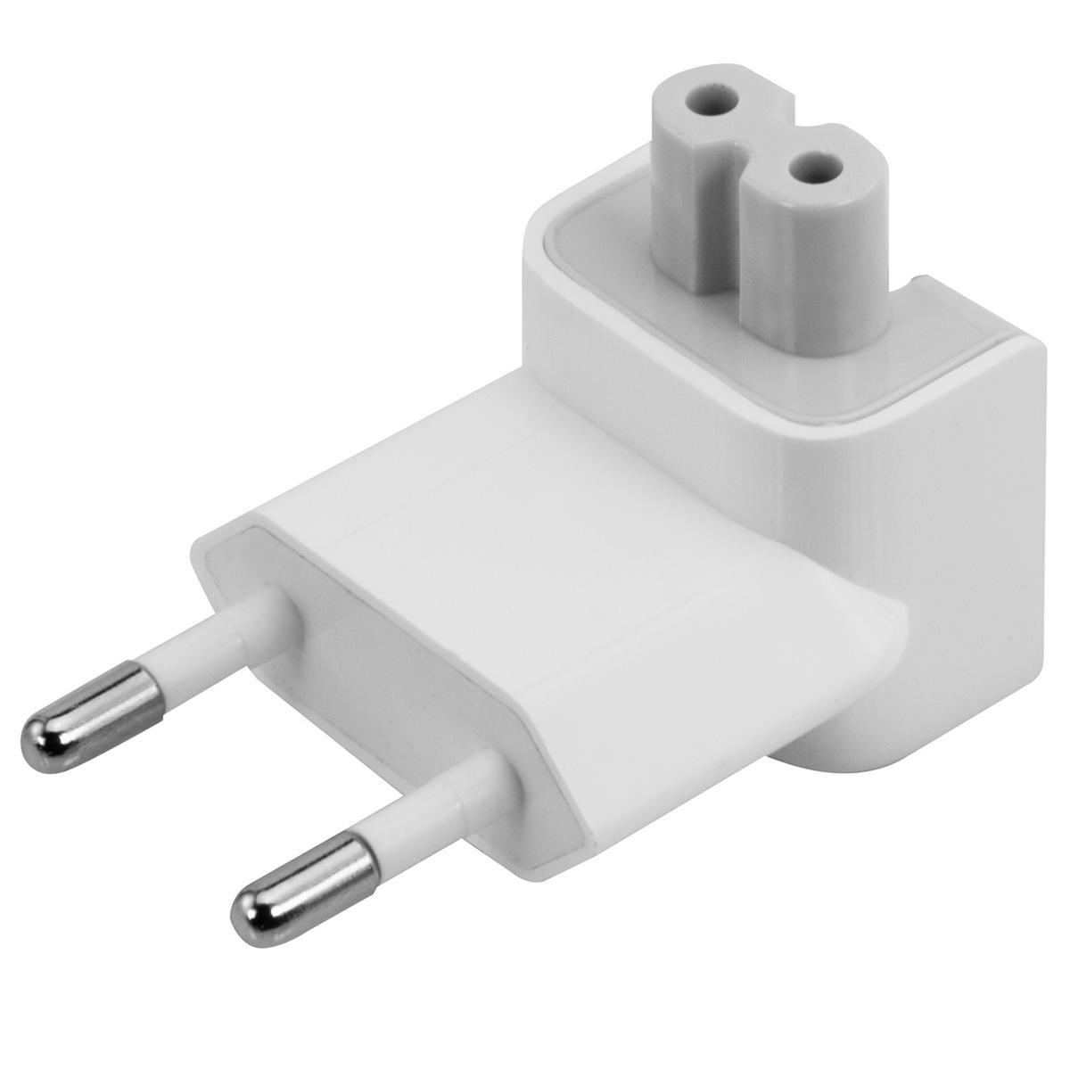 Adaptador de tomada para o padrão brasileiro, da Apple.