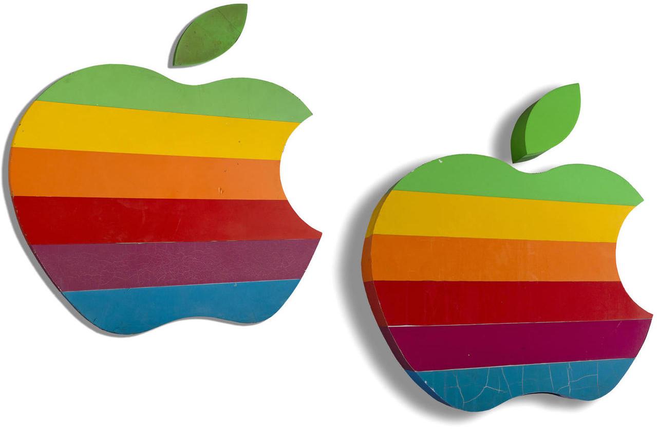 Maçãs coloridas da Apple em leilão