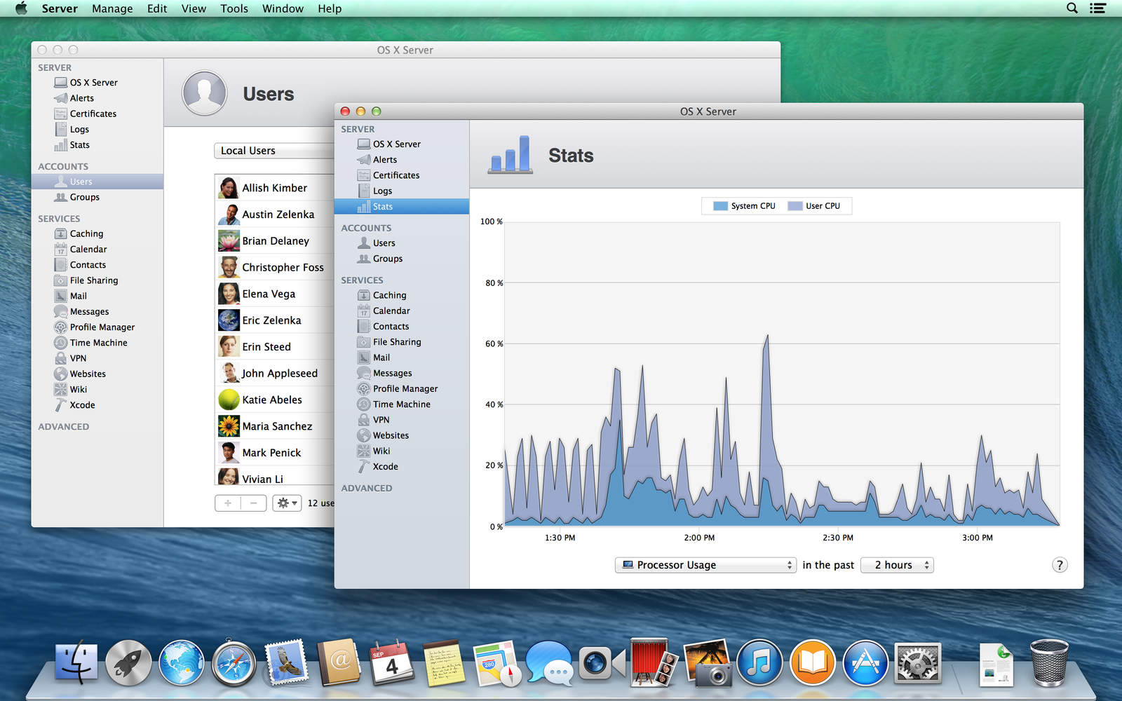 Screenshot do OS X Server