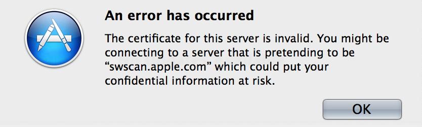 Erro - Atualização de Software