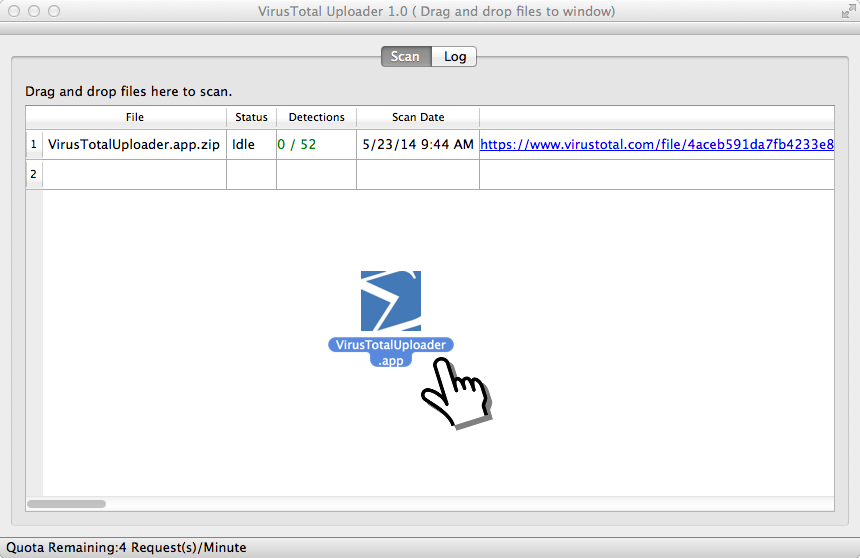 VirusTotal Uploader para OS X