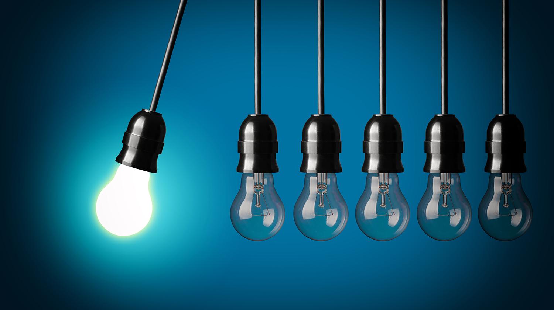 Lâmpadas de ideias