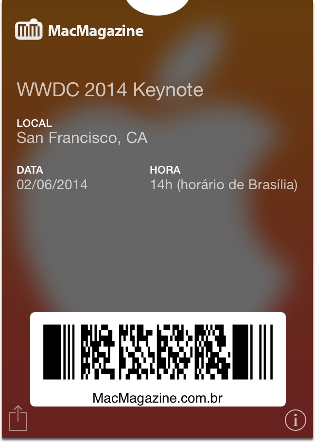 Passbook da WWDC 2014