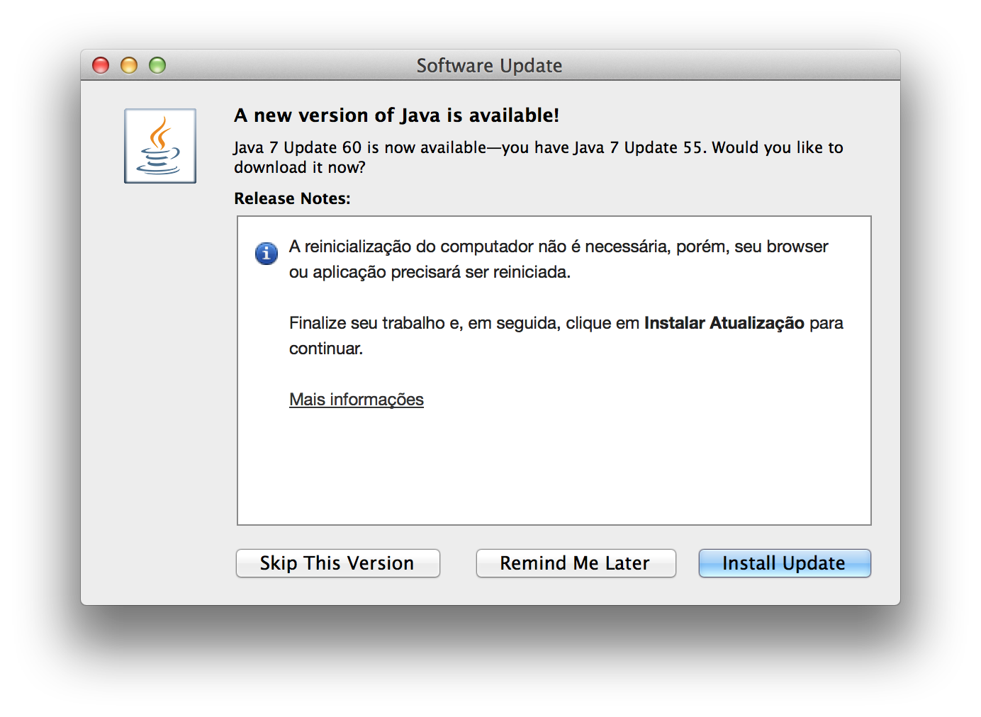 Java 7 Update 60