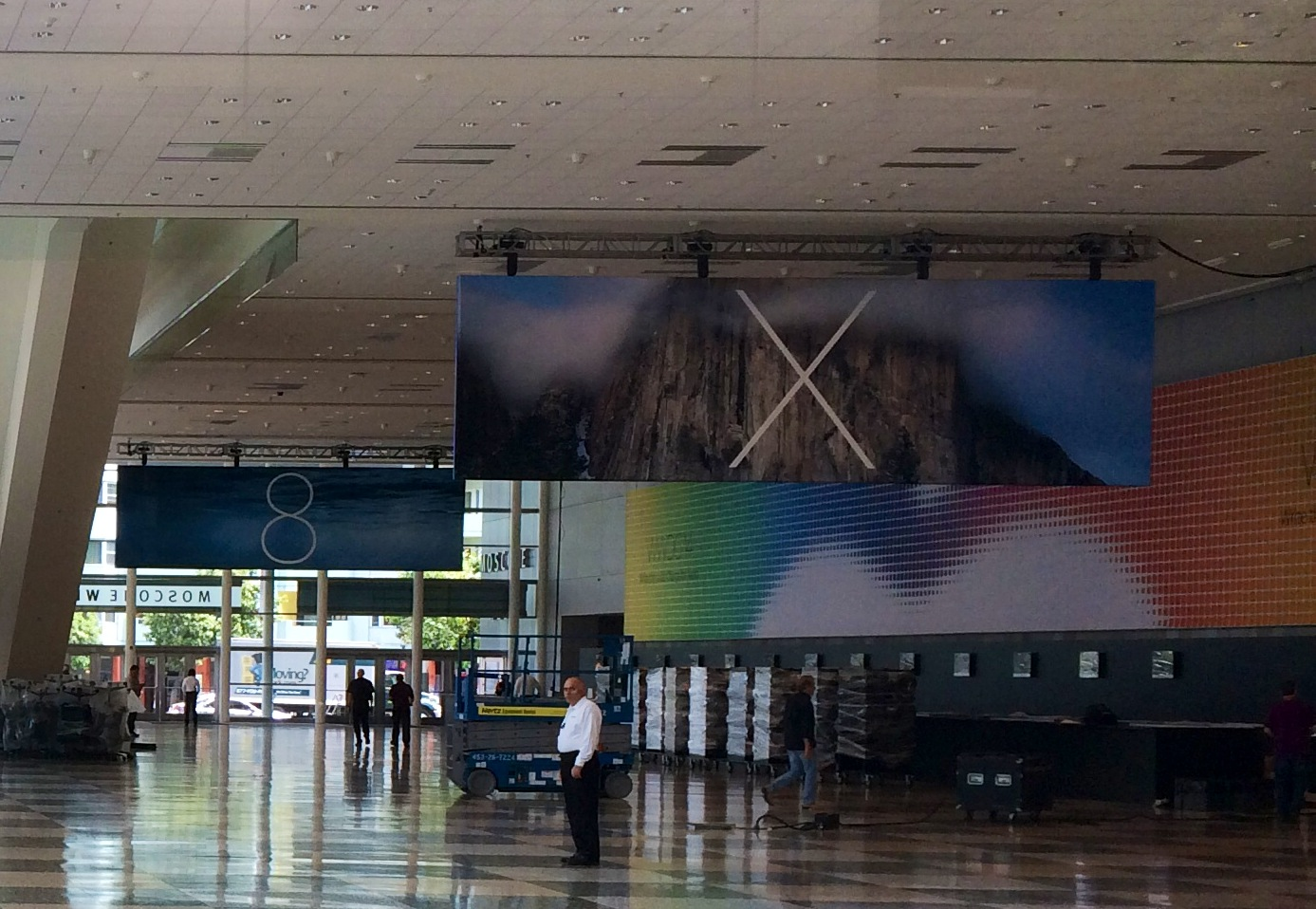Banner do OS X na WWDC 2014