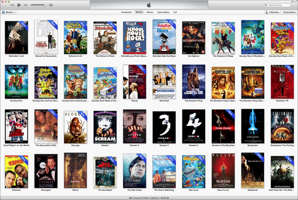 iTunes Library - Filmes