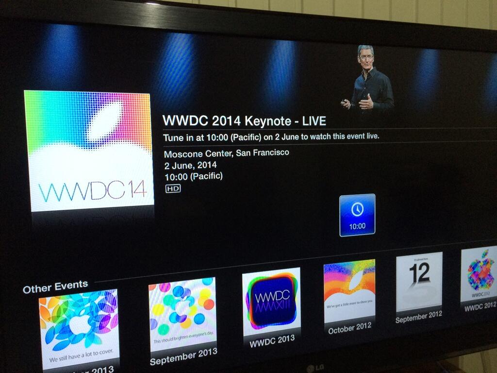 WWDC 2014 na Apple TV