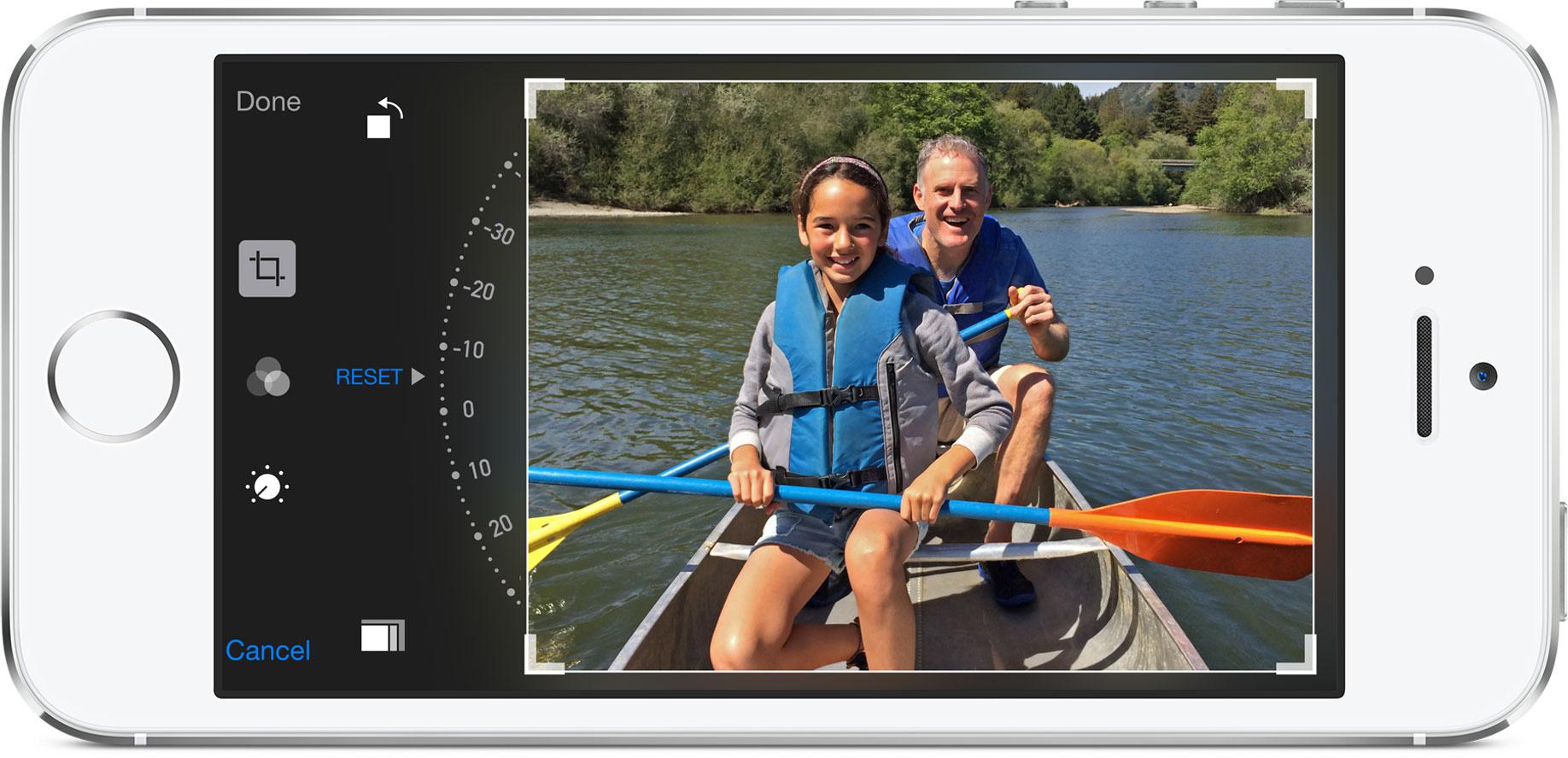 Editando fotos no IOS 8 em iPhone