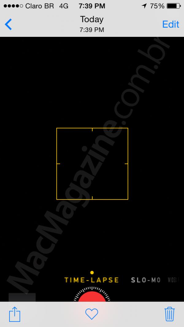 Novidades em fotos no iOS 8