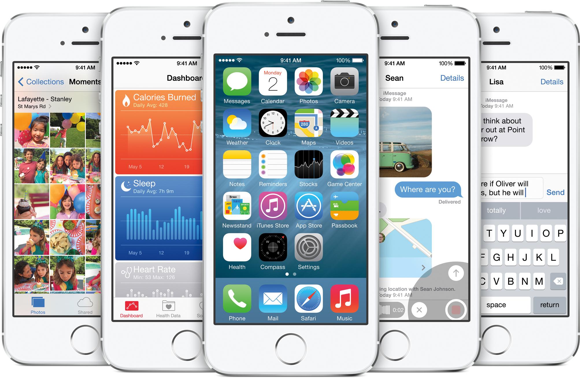 iOS 8 em iPhones 5s