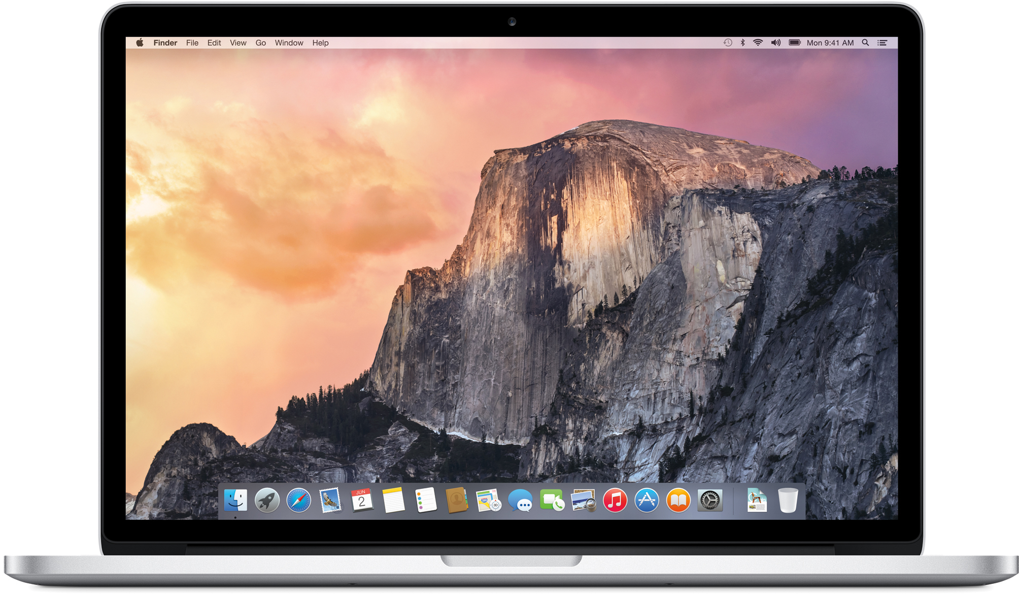 OS X Yosemite rodando no MacBook Pro
