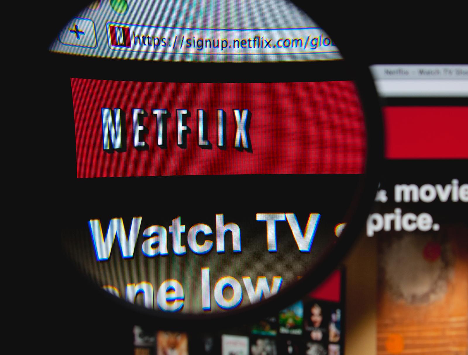 Netflix no Mac visto por uma lupa
