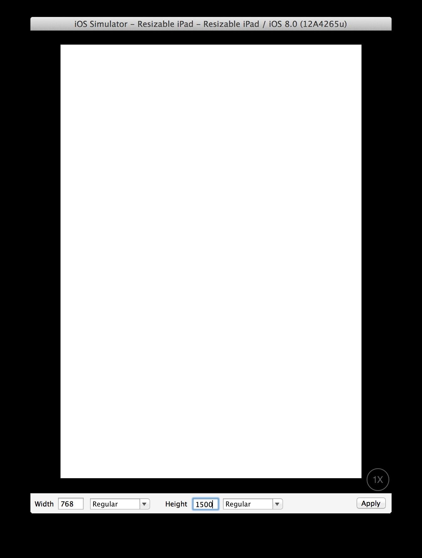Telas no Xcode 6