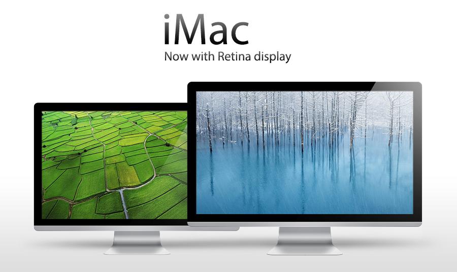 Conceito de iMac com tela Retina