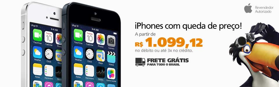 Promoção de iPhones na Saraiva