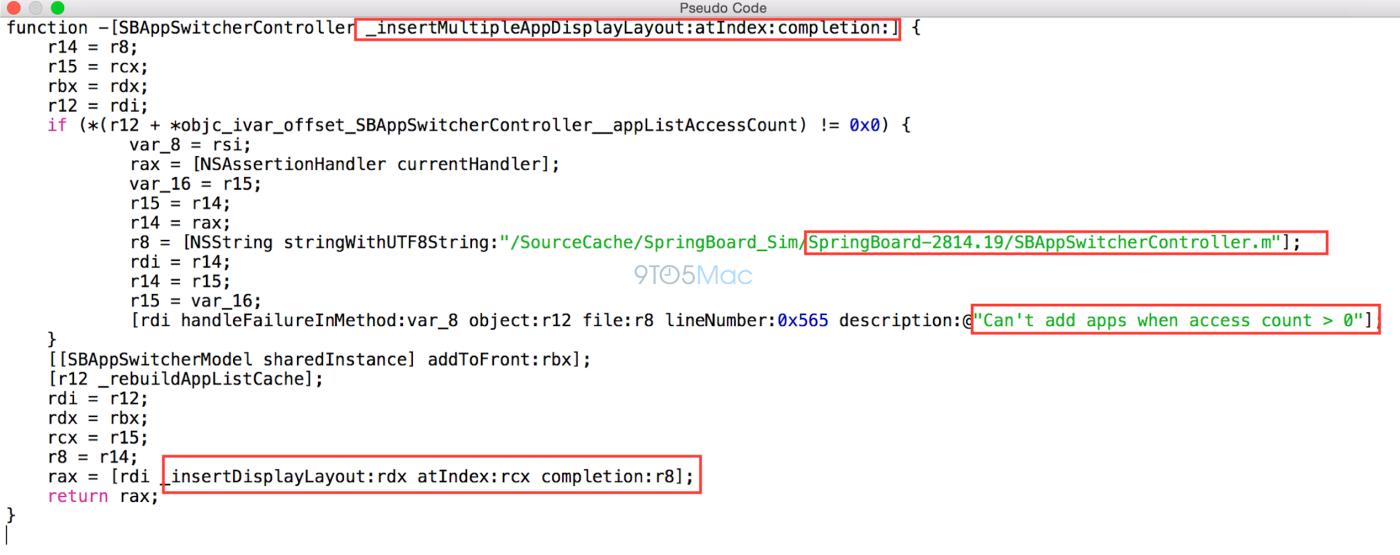 Código do iOS 8 para o recurso de tela dividida