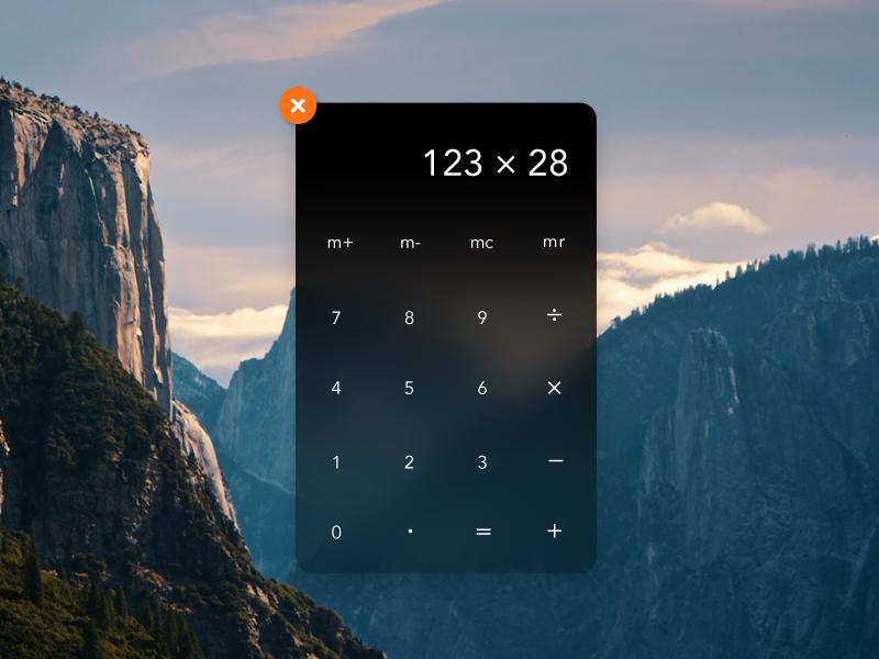 Conceito para o OS X Yosemite - Calculadora (widget)