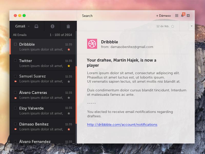 Conceito para o OS X Yosemite - Gmail