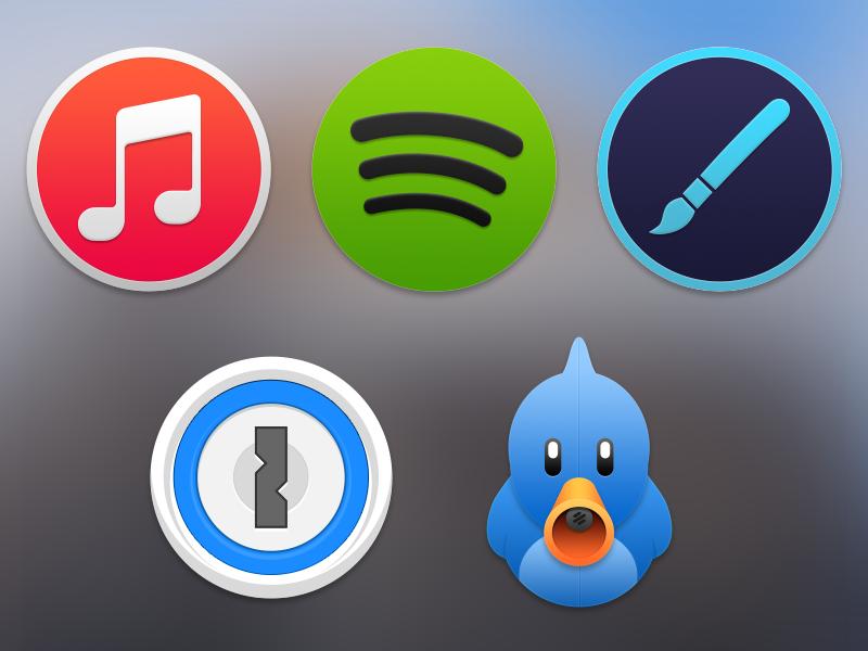 Conceito para o OS X Yosemite - Ícones
