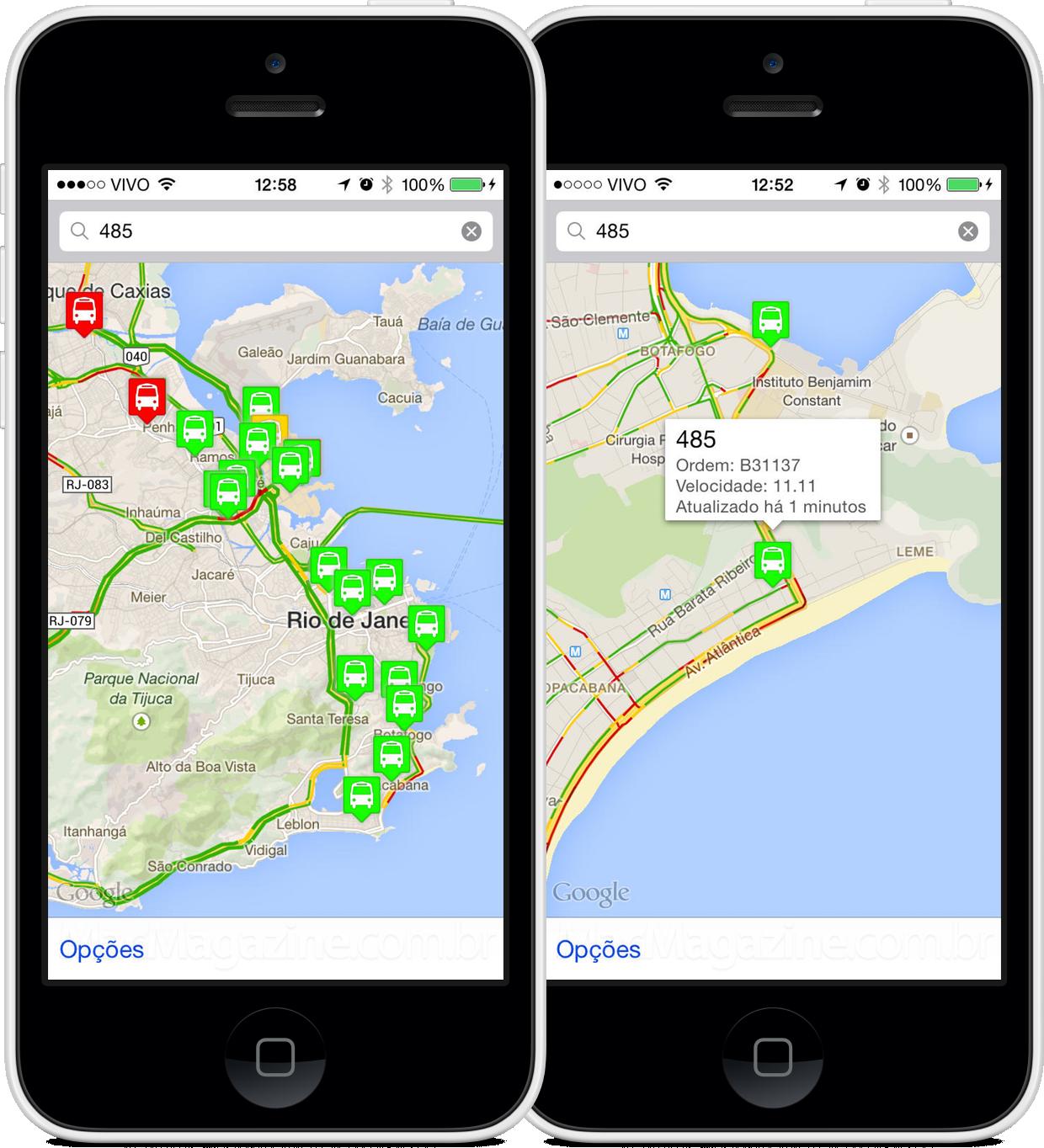 App Rio Bus para iPhones/iPods touch